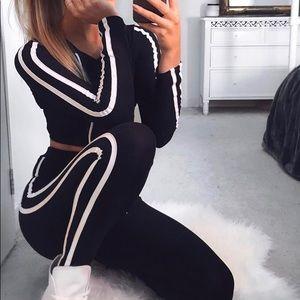 Fashion Nova cropped matching set